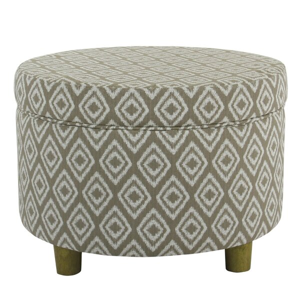 Granby Geometric Patterned Storage Ottoman by Foundry Select