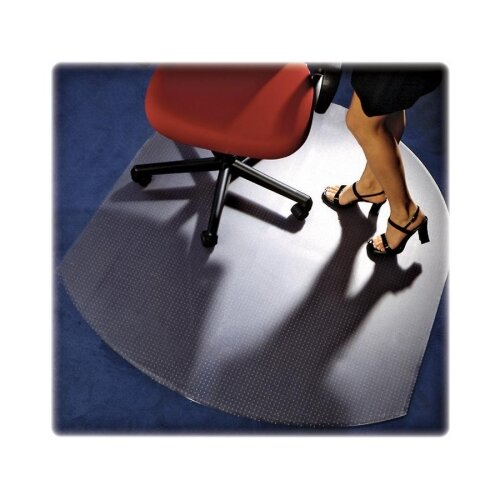Contoured Low/Medium Pile Carpet Beveled Edge Chair Mat by Floortex