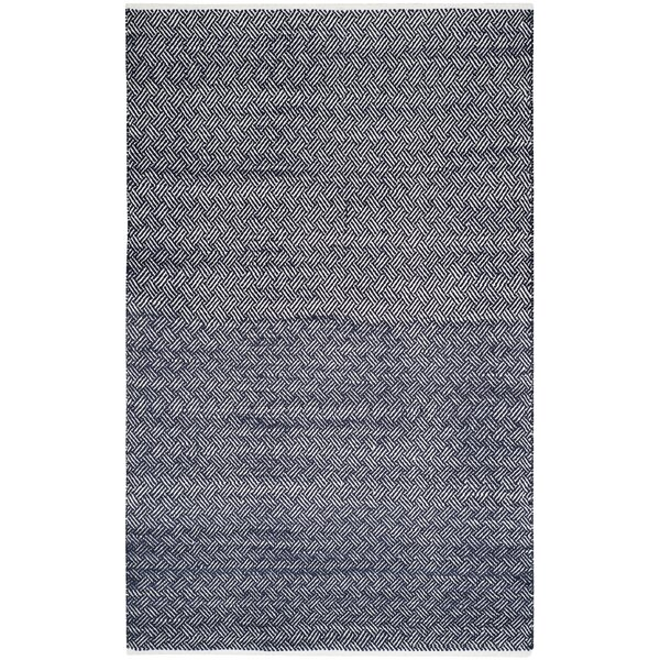 Boston Hand-Woven Navy Area Rug by Alcott Hill