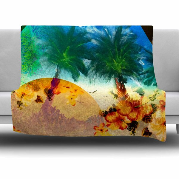 Paradise by Infinite Spray Art Fleece Blanket by East Urban Home