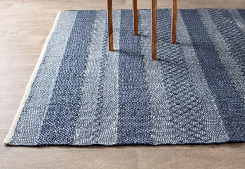 Fab habitat estate hand woven blue indoor outdoor area rug for Blue indoor outdoor rug