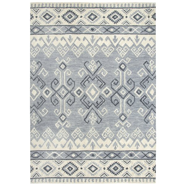 Pittard Hand-Tufted Wool Gray Area Rug by Gracie Oaks
