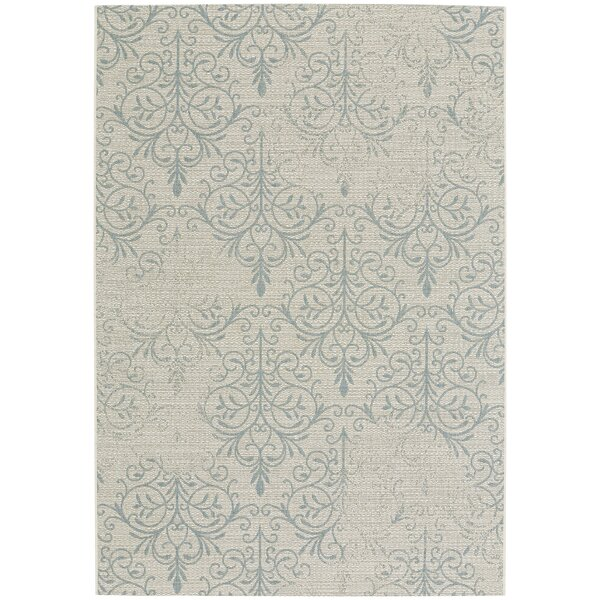 Boyster Blue Indoor/Outdoor Area Rug by Three Posts