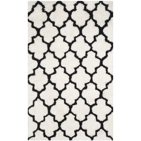 Eno Looped Cotton Black/Ivory Area Rug by Willa Arlo Interiors