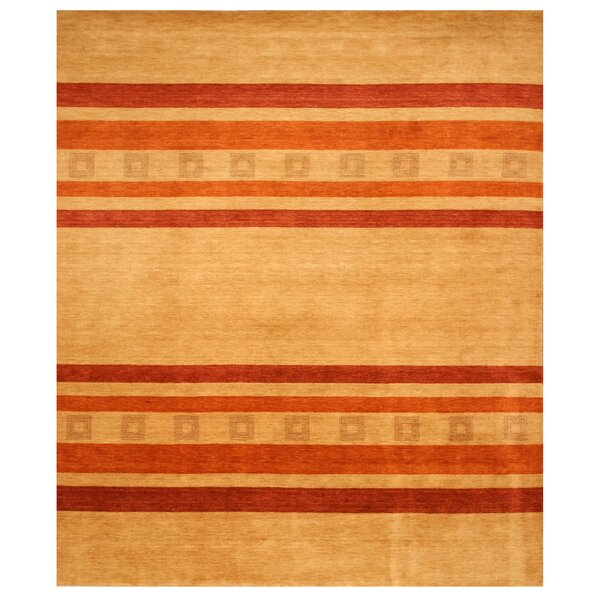 Kavali Hand-Woven Beige/Red Area Rug by Meridian Rugmakers