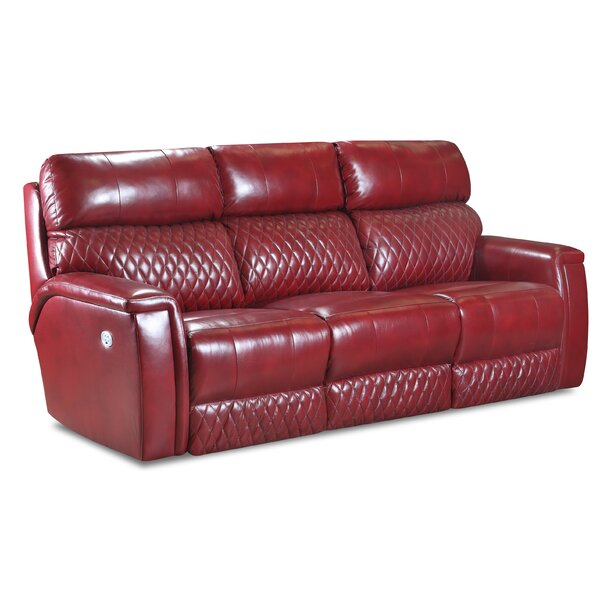 High Rise Power Headrests Leather Reclining Sofa by Southern Motion