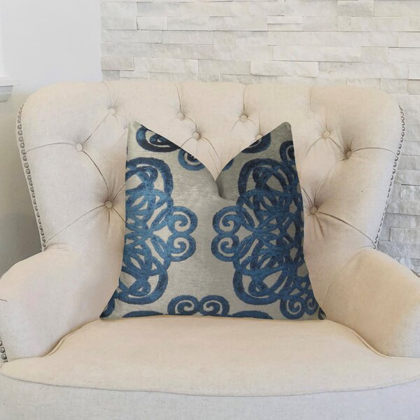Archetype Sapphire Double Sided Throw Pillow by Plutus Brands