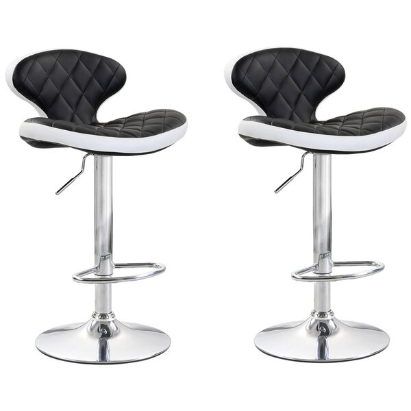 Shuman Adjustable Height Swivel Bar Stool (Set of 2) by Brayden Studio