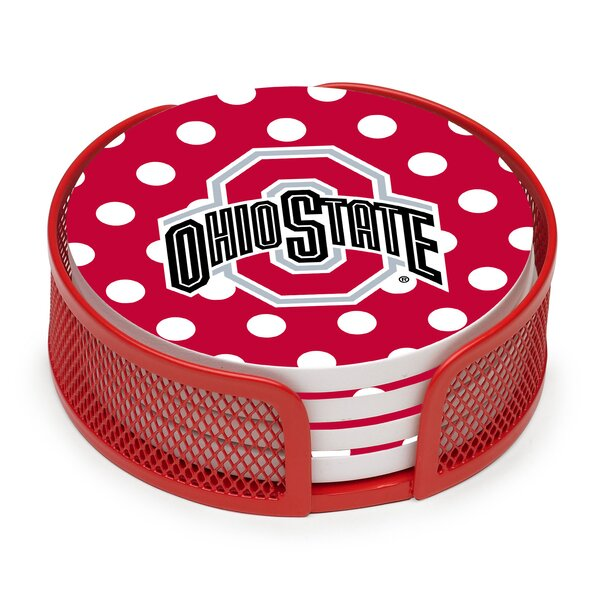 5 Piece Ohio State University Dots Collegiate Coaster Gift Set by Thirstystone