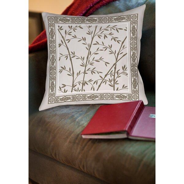 Oriental Treasure Printed Throw Pillow by Manual Woodworkers & Weavers