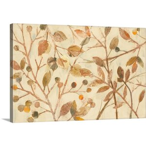 Shimmering I Neutral by Albena Hristova Painting Print on Wrapped Canvas by Great Big Canvas
