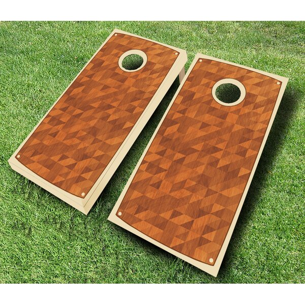 Retro Stained Satchel Cornhole Set by AJJ Cornhole