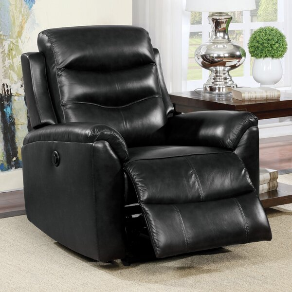 Tincher Leather Power Recliner by Latitude Run Latitude Run