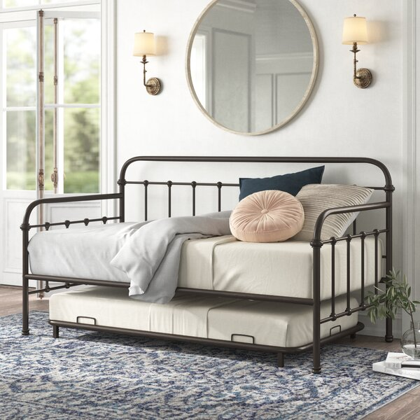 Connie Metal Twin Daybed With Trundle By Kelly Clarkson Home