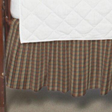 Plaid Fabric Crib Dust Ruffle by Patch Magic