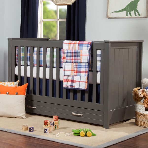 Asher 3-in-1 Convertible Crib with Storage by DaVi