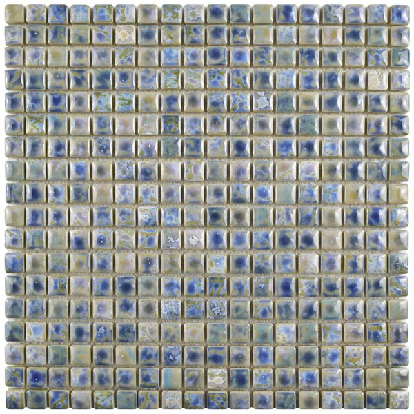 Arcadia 0.56 x 0.56 Porcelain Mosaic Tile in Neptune Blue by EliteTile