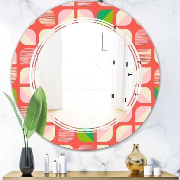 Triple C Abstract Geometric VIII Modern Frameless Wall Mirror