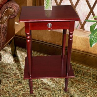 Great choice Square Telephone Stand in Mahogany ByCharlton Home