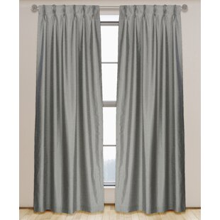 silk garden pure product free panel lined brielle curtain dupioni pleat pinch curtains home