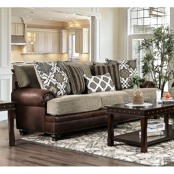 Modern Brand Riveria Transitional Chenille Sofa by Astoria Grand by Astoria Grand