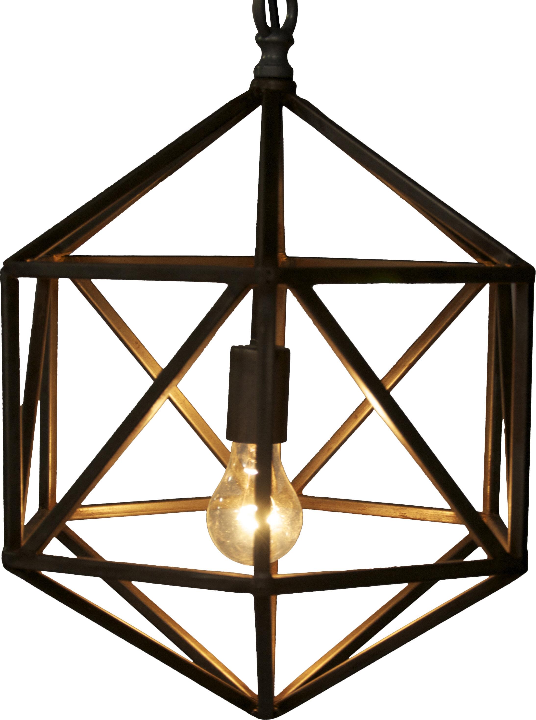 Noir Diamond 1 Light Single Geometric Pendant Reviews Wayfair