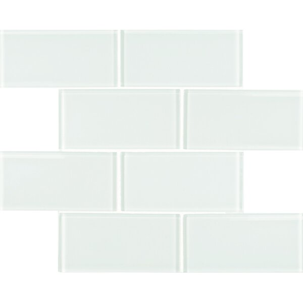 Quality Value Series 3 x 6 Glass Subway Tile in Alaskan White by WS Tiles