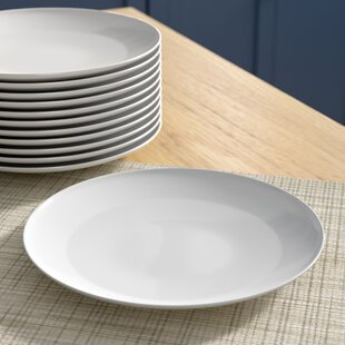 Chacra 7.5 Coupe Catering Salad Plate (Set of 12) & White Catering Plates | Wayfair