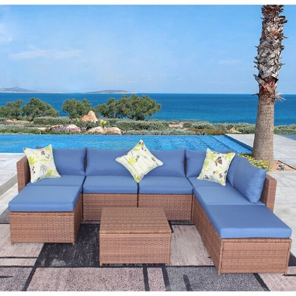 Bhupendra 4 Piece Sectional Seating Group With Cushions By Latitude Run