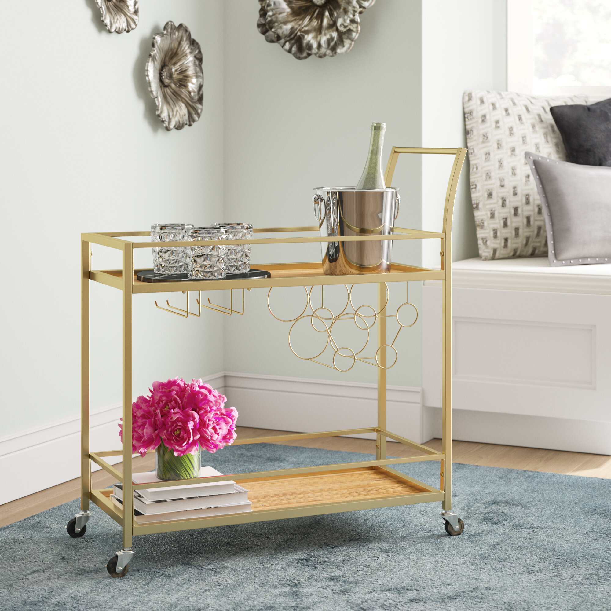 Glam Bar Carts You Ll Love In 2021 Wayfair