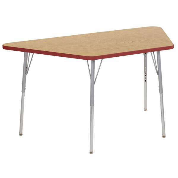 Trapezoid Thermo-Fused Contour Adjustable 60 x 30 Trapezoidal Activity Table by ECR4kids
