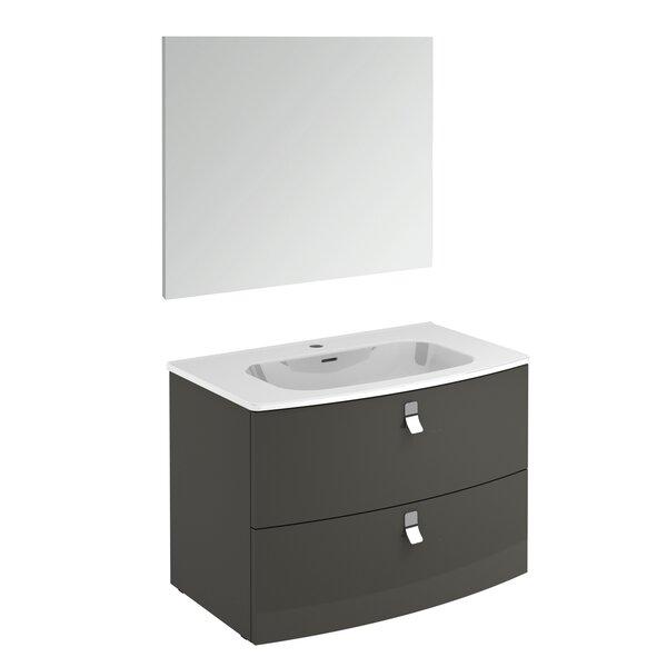 Rondo 32 Single Bathroom Vanity Set with Mirror by WS Bath Collections