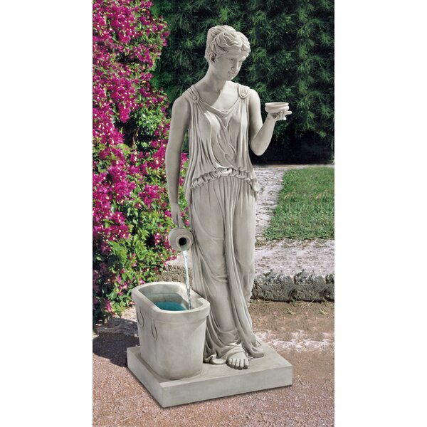 Resin Goddess of Youth Garden Fountain by Wildon Home ®