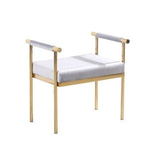 Affordable Oldene Upholstered Bench with Velveteen Seat By Mercer41