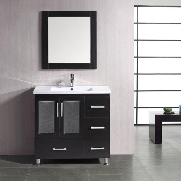 Pratt 36 Single Bathroom Vanity Set with Mirror by dCOR designPratt 36 Single Bathroom Vanity Set with Mirror by dCOR design