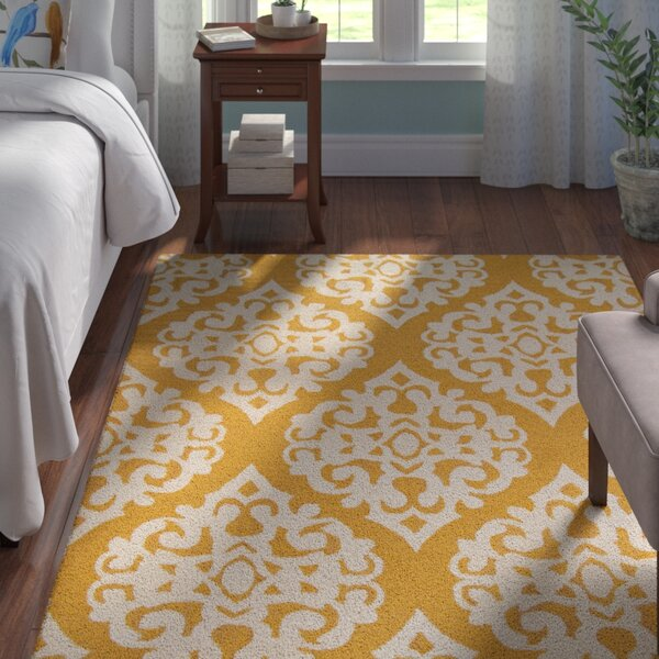Northwood Hand-Tufted Gold Area Rug by Andover Mills