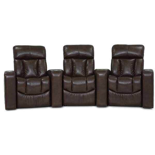 Orlando Curved Home Theater Sofa (Row Of 3) By Palliser Furniture