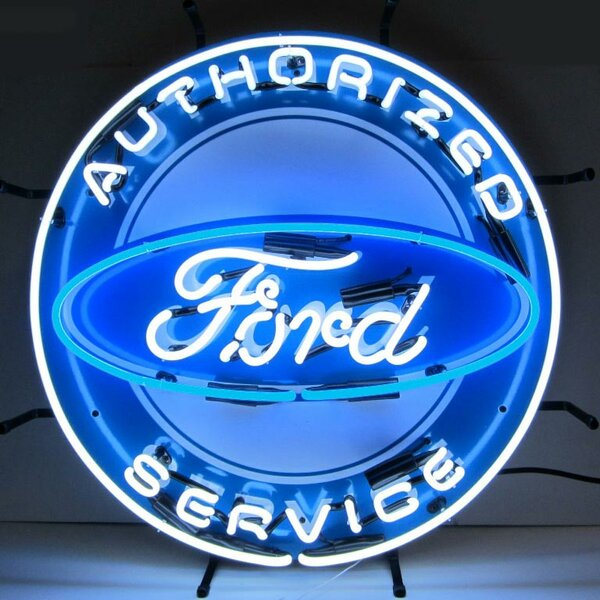 Ford Neon Sign with Silkscreen Backing by Neonetics