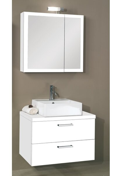 Aurora 30 Single Bathroom Vanity Set with Mirror by Iotti by Nameeks