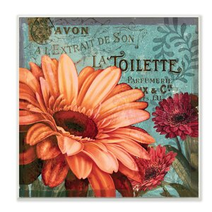 'Colorful Daisies with Antique French Backdrop' Textual Art Wall Plaque by Stupell Industries