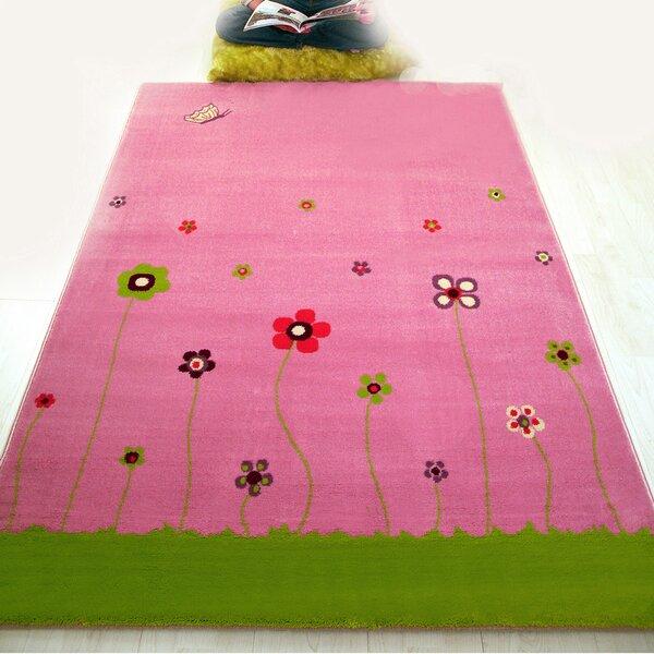 Tudor Floral Tufted Pink Area Rug
