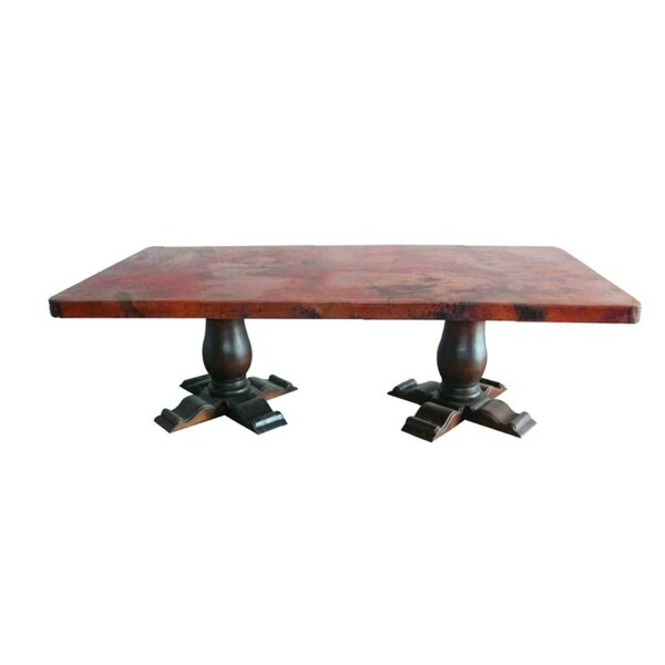 Zavier Luxurious Solid Wood Dining Table by Loon Peak