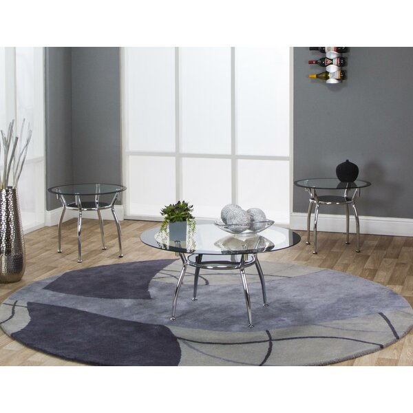 Louna 3 Piece Coffee Table Set By Wrought Studio