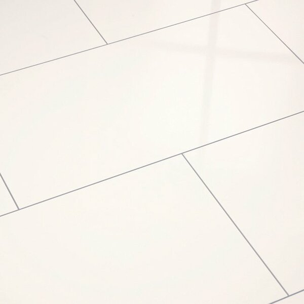 Maxi V5 13 x 51 x 8mm Laminate Flooring in Matte Shine White by ELESGO Floor USA