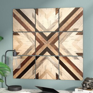 'Geo Wood 1' Graphic Art Print Multi-Piece Image on Wood by Trent Austin Design