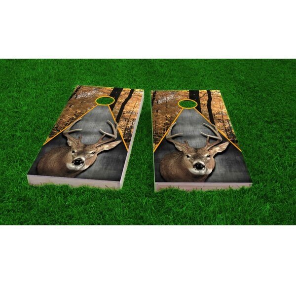 Deer Hunting Theme Cornhole Game Set by Custom Cornhole Boards