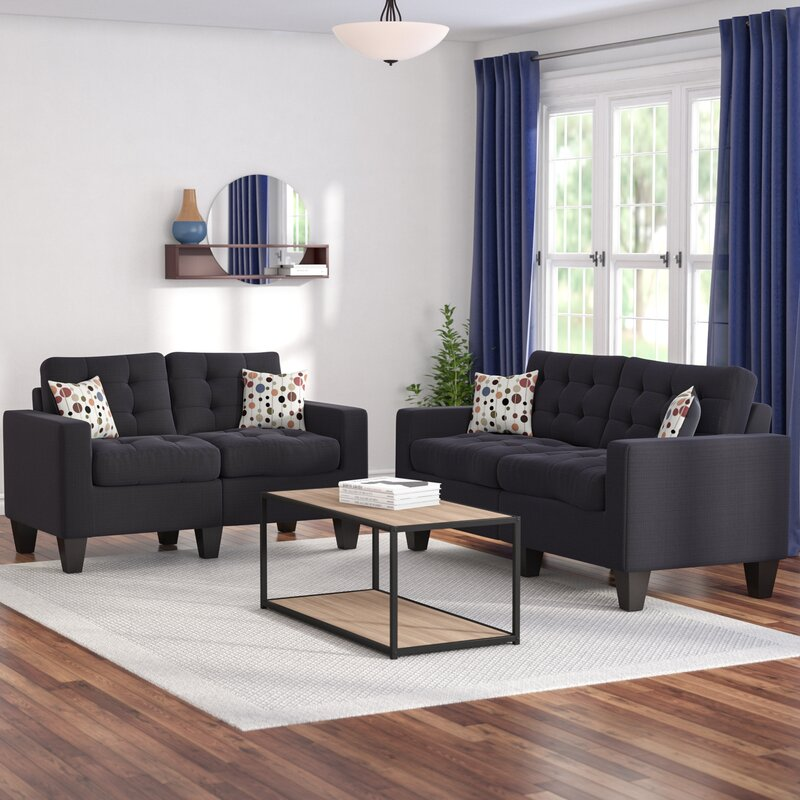 Contemporary Lounge Chairs Living Room: Zipcode Design Amia 2 Piece Living Room Set & Reviews