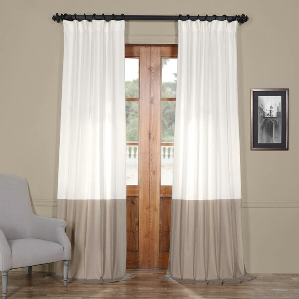 Dwayne Sheer Rod Pocket Single Curtain Panel by Langley Street