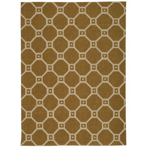 Color Motion Ferris Wheel Gold Area Rug by Waverly