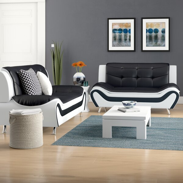 Crocker 2 Piece Leather Living Room Set by Orren Ellis